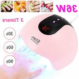 Star8 36W 12 UV LED Nail Lamp Dryer Gel Polish Manicure Cure