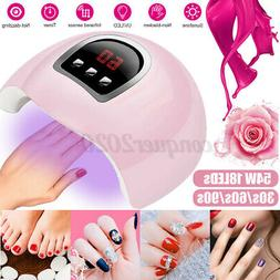 54W LED UV Nail Polish Dryer Lamp Gel Acrylic Curing Light S