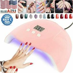 54W Pro Nail Polish Dryer Lamp LED UV Gel Acrylic Curing Lig