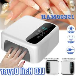White 72W Cordless Wireless Rechargeable LED/UV Nail Lamp Ge