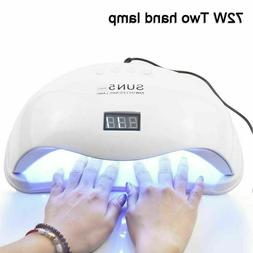 72W SUN5 Pro UV Lamp LED Nail Lamp Nail Dryer For All Gels P