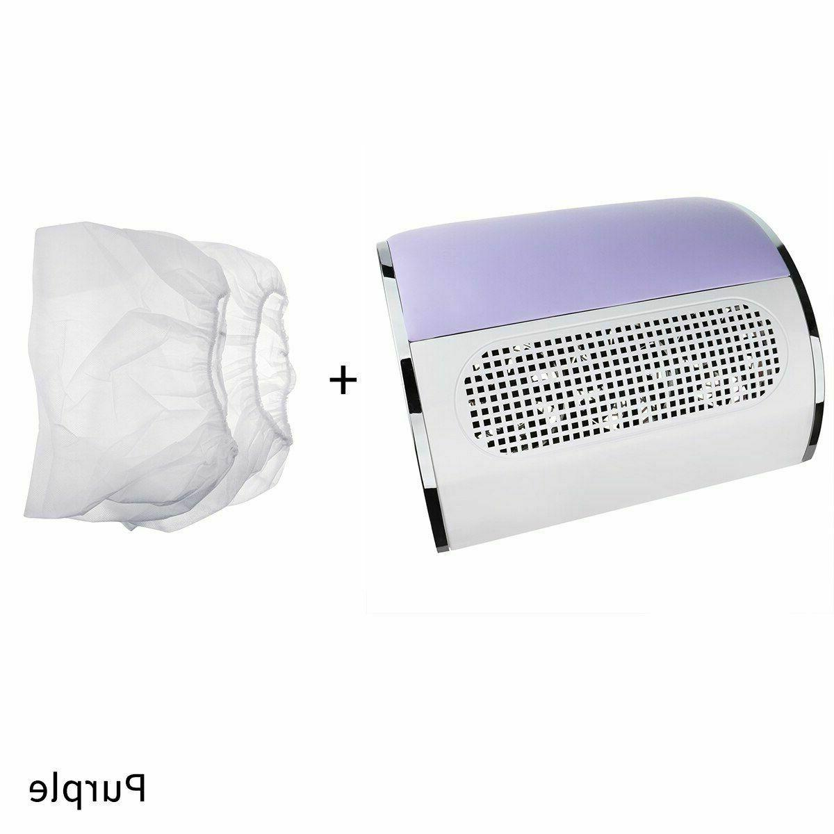 Nail Suction Dust Device Manicure Cleaner