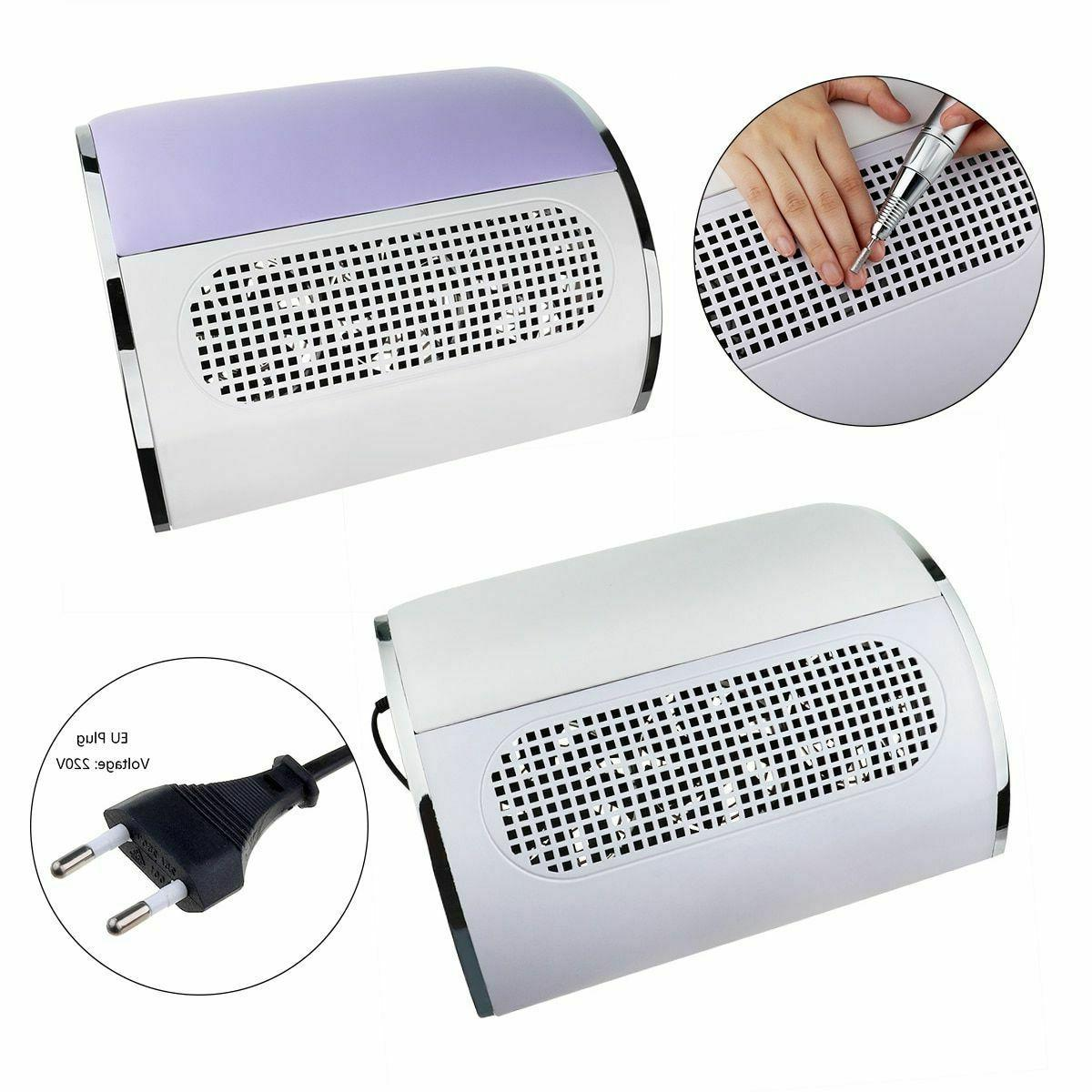 nail suction dust remover device manicure polish