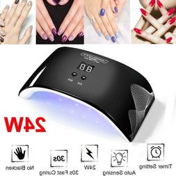 24W LED UV Nail Polish Dryer Lamp Gel Acrylic Curing Light S