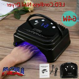 Pro 64W LED Cordless Nail Dryer Gel Polish Lamp Light Curing