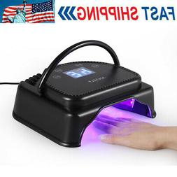 Anself 64W 32pcs LED Nail Dryer Gel Curing Lamp Machine With